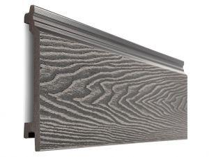 Composite Woodgrain Wall Cladding in Stone Grey