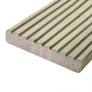Timber Decking, 144mm x 28mm, 4.8m length