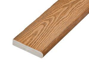 PVC-ASA Bullnose board 150x32mm Woodgrain sanding Chestnut 3.6m