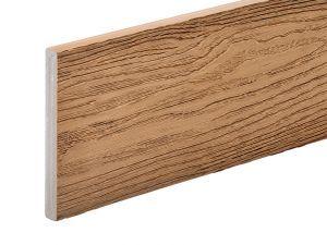 PVC-ASA Fascia board trim 140x15mm Woodgrain sanding Chestnut 3.6m