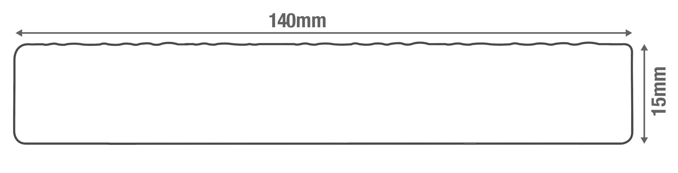 Capstock PVC-ASA Woodgrain Effect Premium Grade Bullnose Fascia Board Diagram