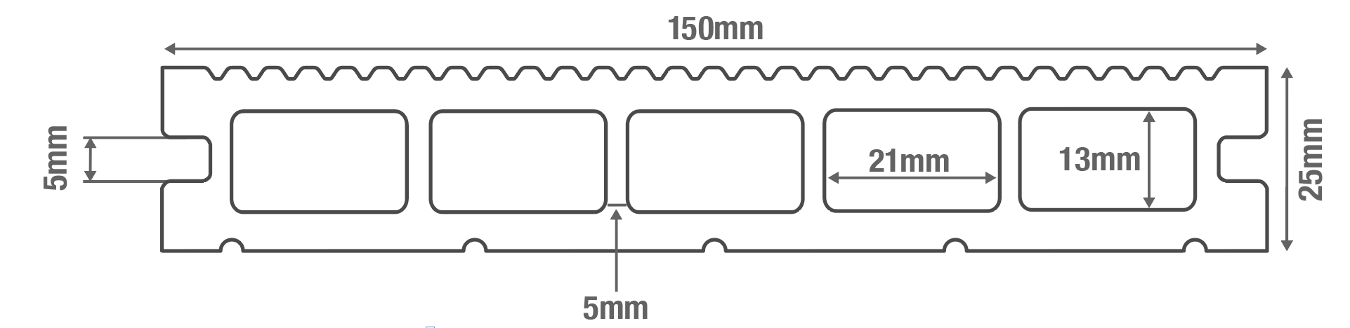 Hollow Commercial Board Diagram