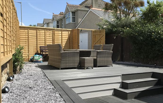 Cladco Boards with Integrated Light System and Steps | WPC Decking