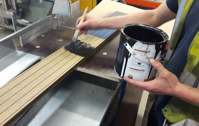 Can you paint or stain composite decking?