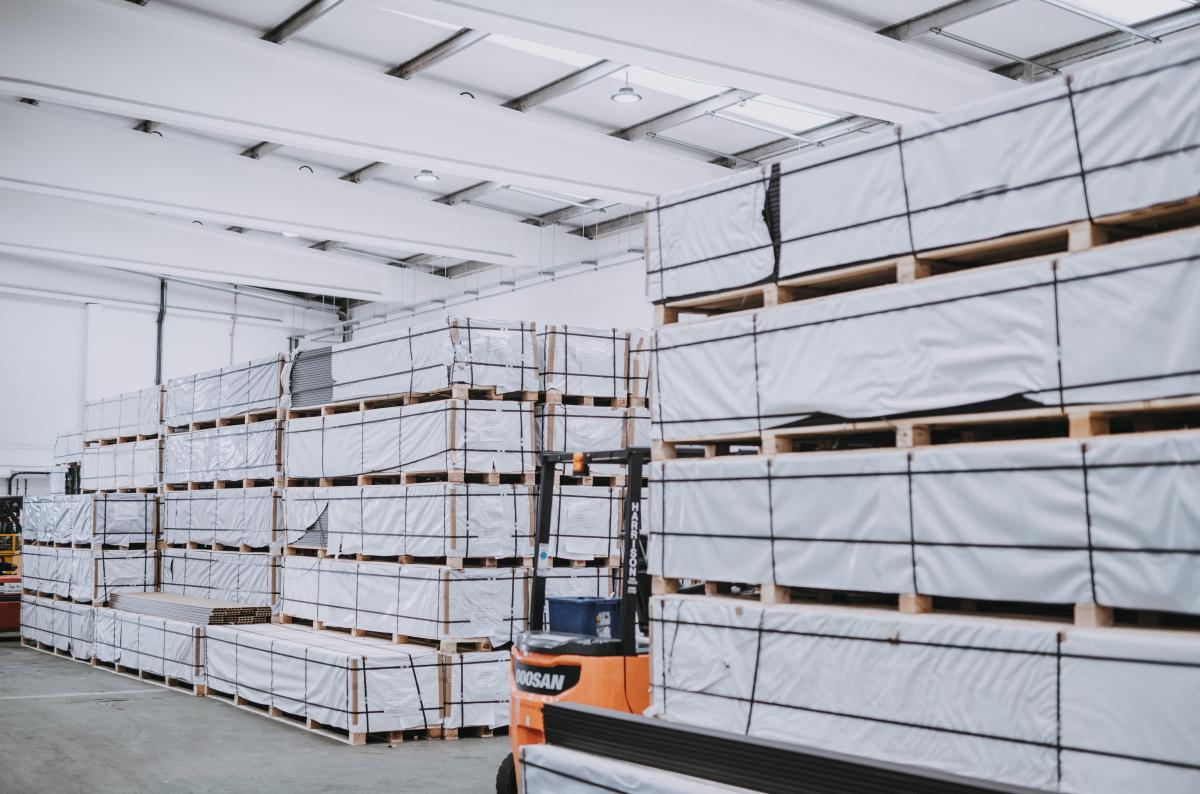 Cladco Warehouse - behind the scenes look at Cladco Profiles