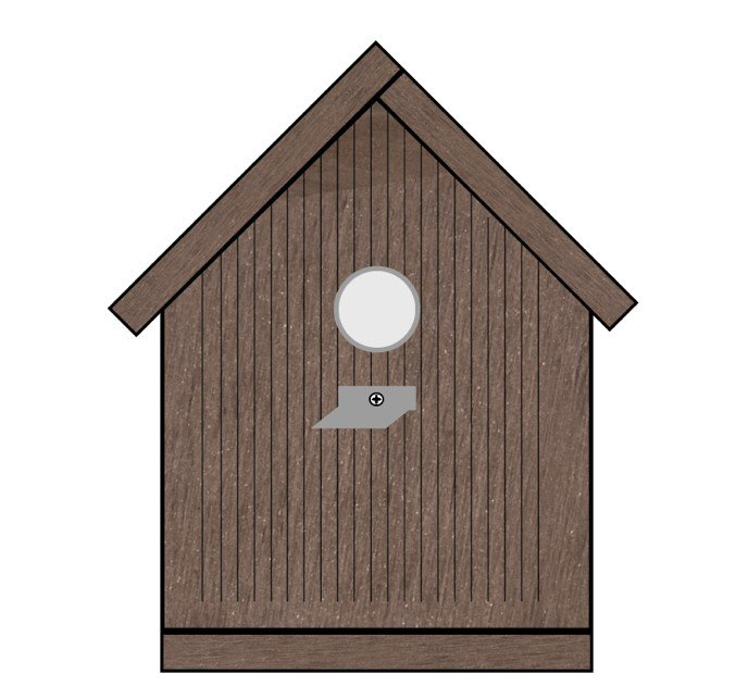 How to make a bird house from decking offcuts