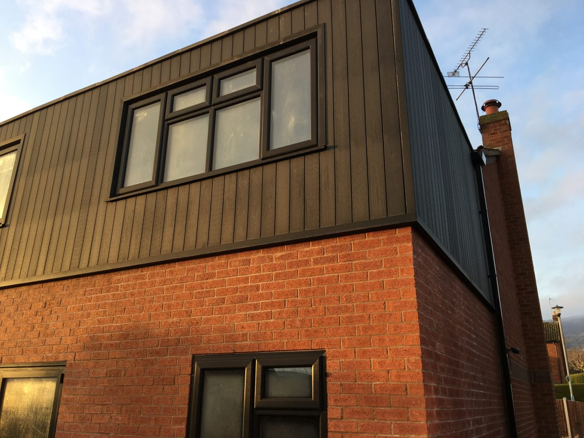 Two Storey Extension using Cladco Wall Cladding & Composite Decking