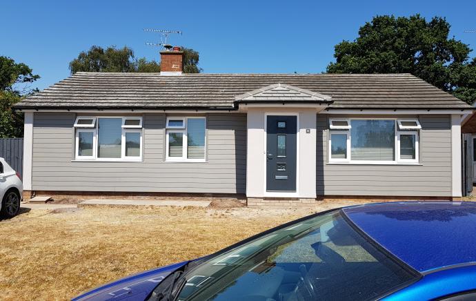 Cladco Light Grey Wall Cladding transforms bungalow