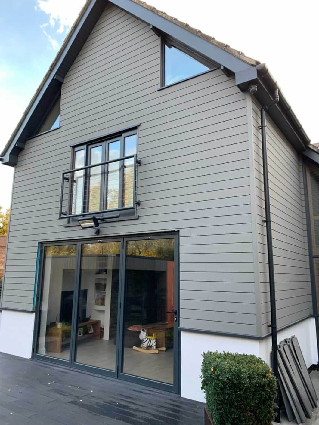 Apex Carpentry & Joinery Ltd transform home exterior with Composite Wall Cladding