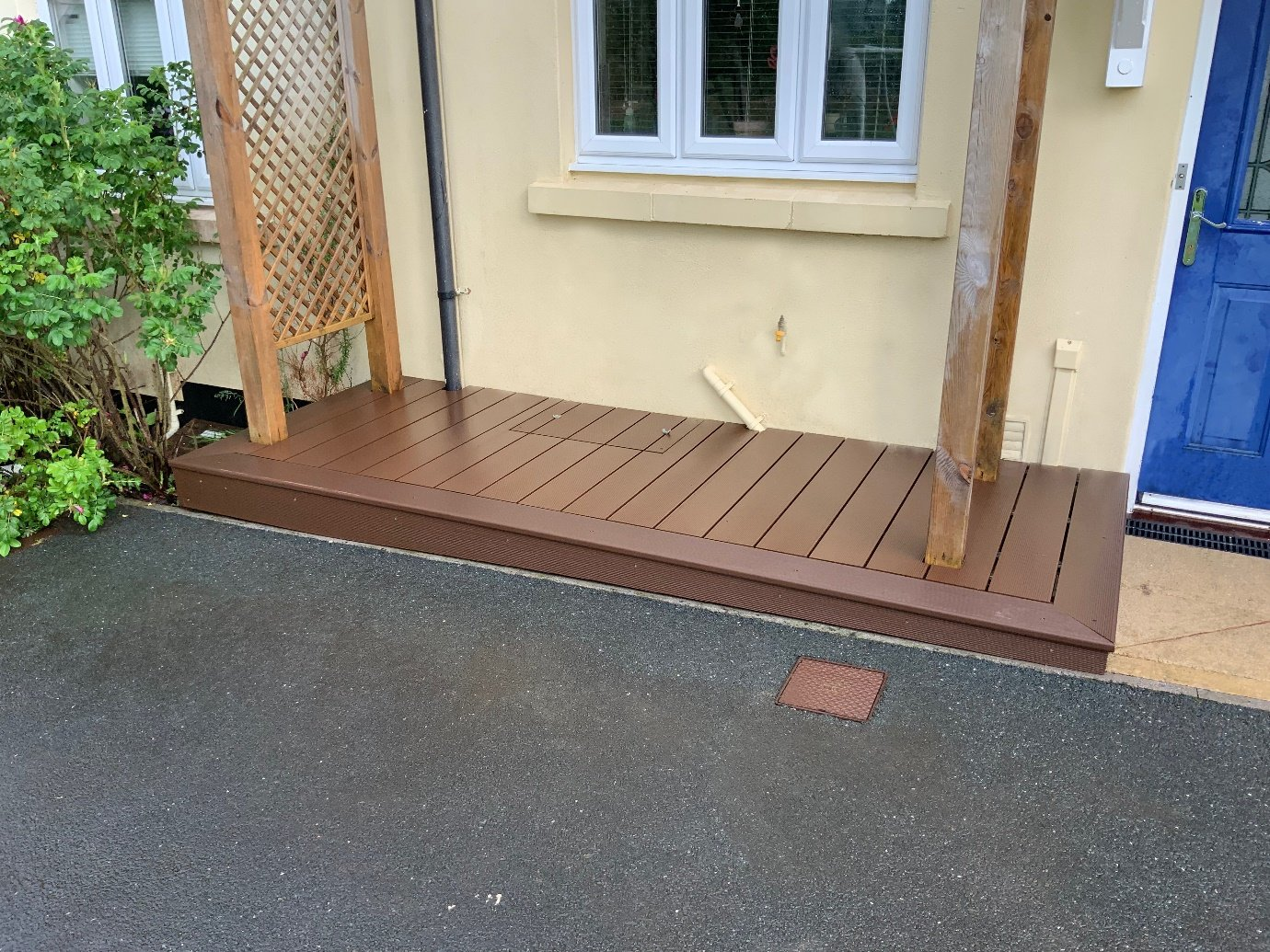 How to use Cladco Composite Decking to cover a Gas Meter