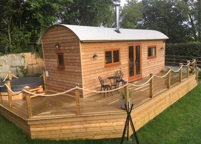 Encasing a Shepherds Hut in Cladco Composite Decking