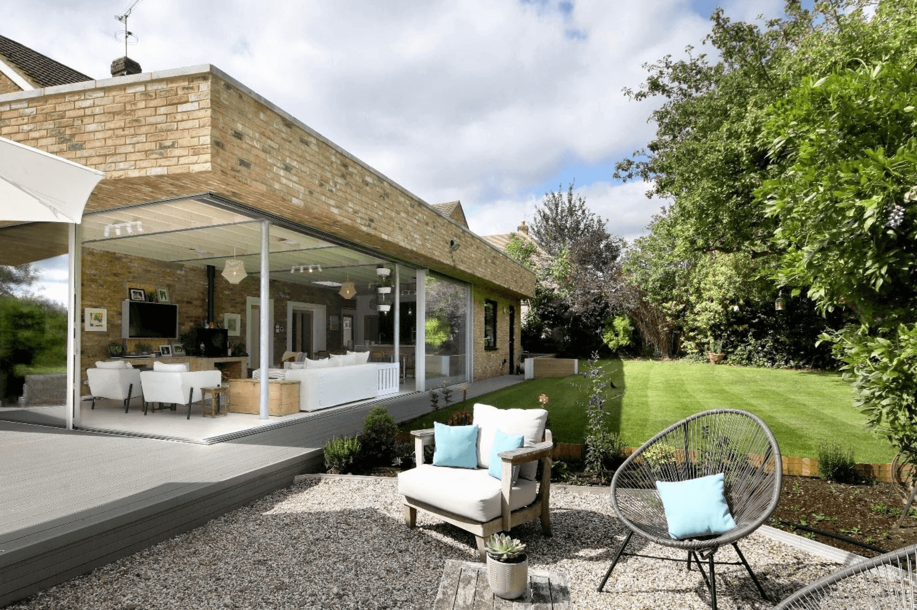 Bovingdon Home Creates stunning Decked Garden