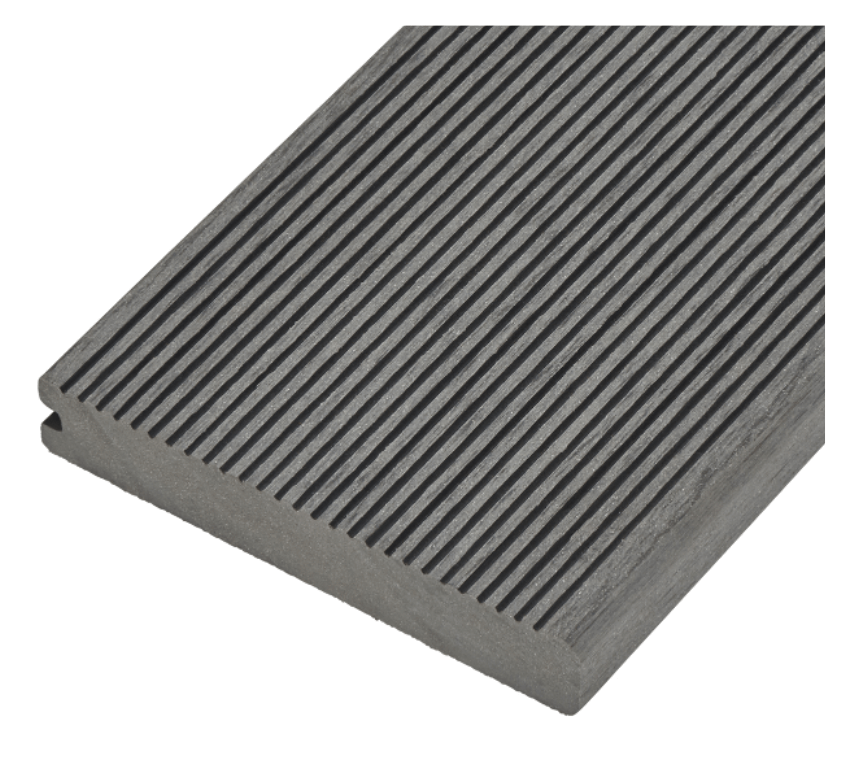 Solid Commercial Grade Bullnose Composite Decking Board