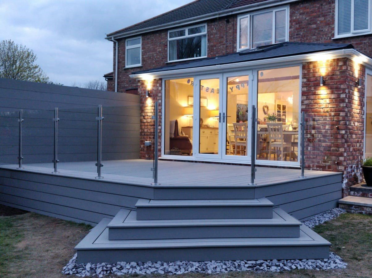Light Grey Decking Boards 2