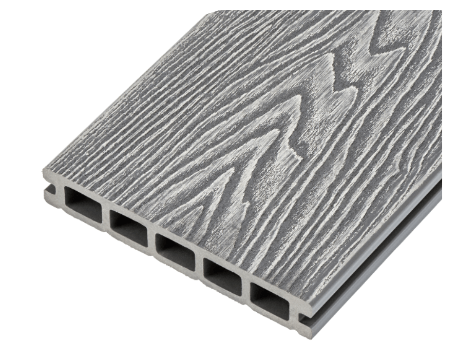 Woodgrain Effect Hollow Domestic Grade Composite Decking Board