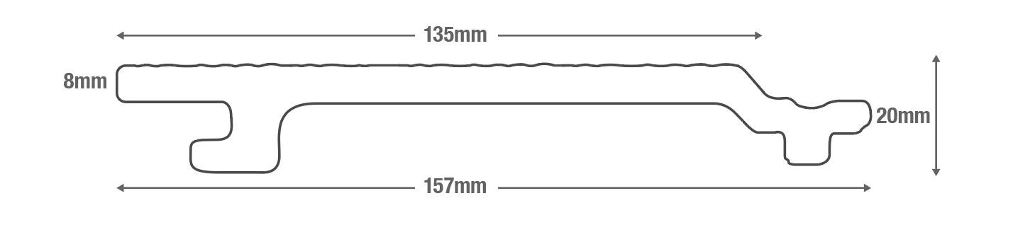 Woodgrain Effect Wall Cladding Diagram