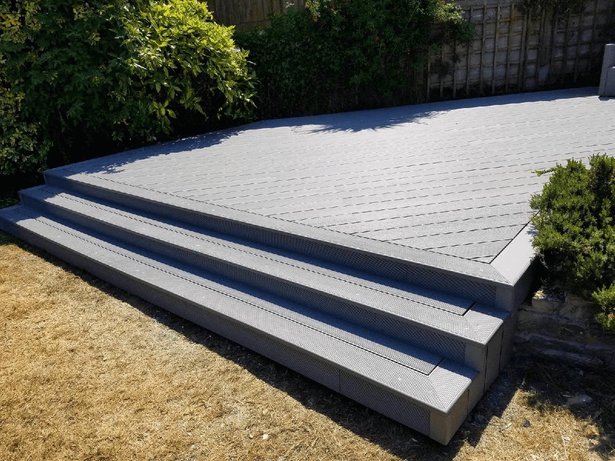 Stone Grey Bullnose Boards