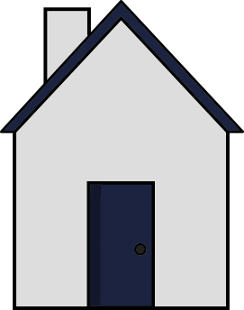 Wall with gable end